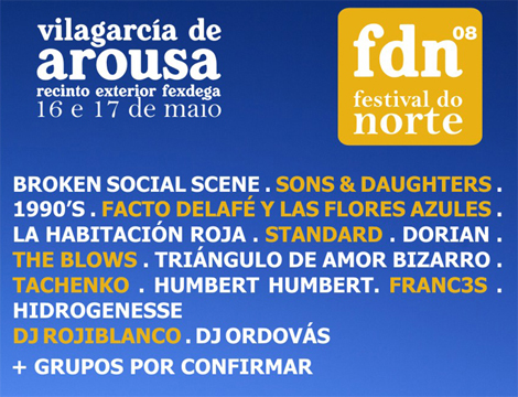 Más incorporaciones para el Festival Do Norte