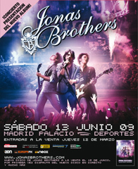Los Jonas Brother en Madrid el prximo 13 de junio 
