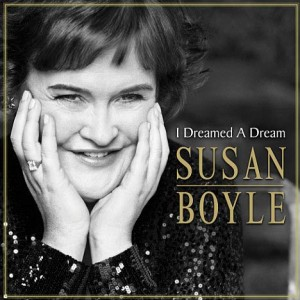 Susan Boyle y la portada de su disco 