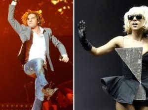 David Bisbal junto a Jimmy Page y Lady Gaga en un concierto en China