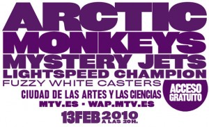 MTV Winter Valencia 2010 con Artic Monkeys