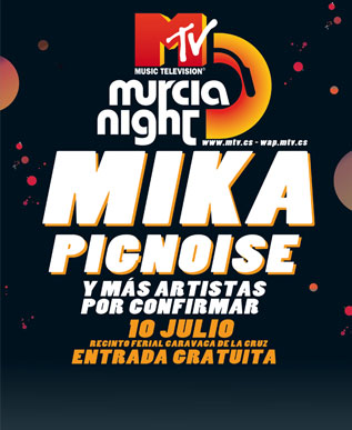 Mika cabeza de cartel en el MTV Murcia Night