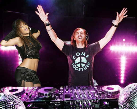 Rihanna y Guetta juntos en algunas presentaciones de Unapologetic gira 