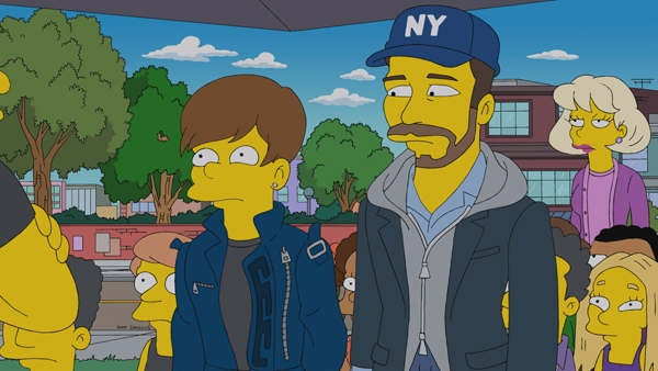 Justin Bieber versin Simpsons 